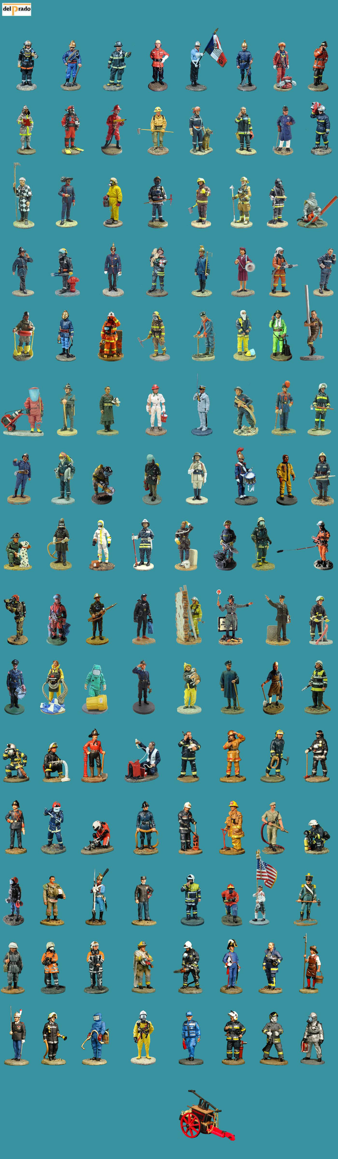 Les Figurine pompier Soldats du feu Figurine d/'un pompier allemand avec bouée